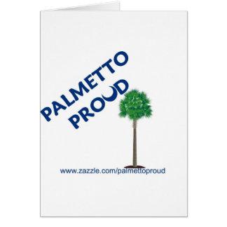 Palmetto orgulloso tarjetón