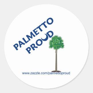 Palmetto Proud Classic Round Sticker