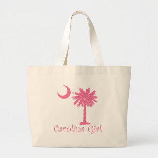 Palmetto rosado del chica de Carolina Bolsas De Mano