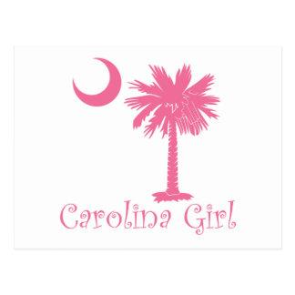 Palmetto rosado del chica de Carolina Postales