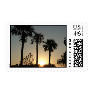 Palmetto Sunrise Postage Stamps