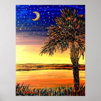 Palmetto Sunset Poster