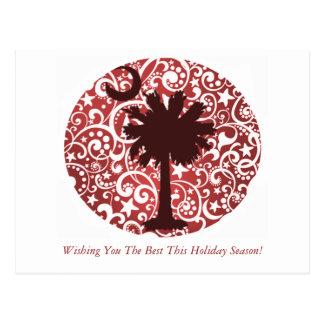 Palmetto Tree and Moon Christmas Postcards