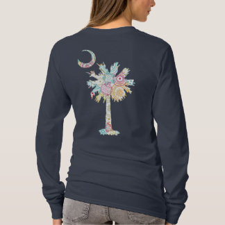 Palmetto Tree and Moon Rainbow Ornament Design T-Shirt