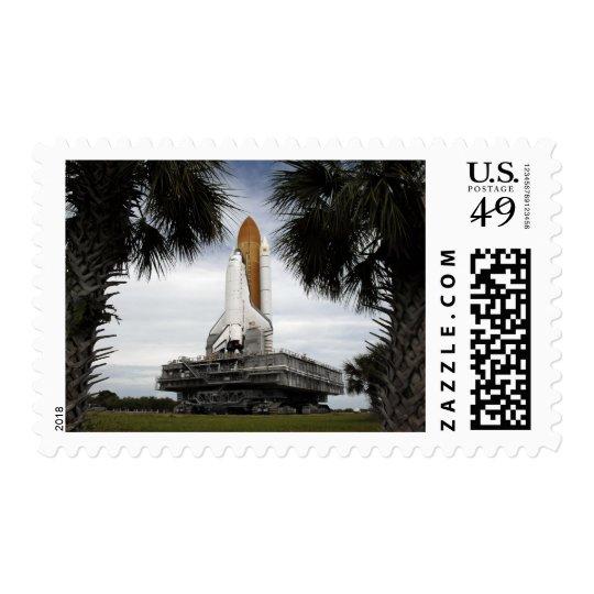 Palmetto trees frame space shuttle Endeavour Postage