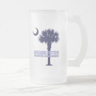 Palmetto y creciente (Charleston) del SC Taza De Cristal