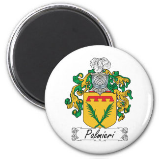 Palmieri Family Crest 2 Inch Round Magnet