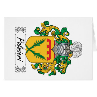 Palmieri Family Crest Greeting Card