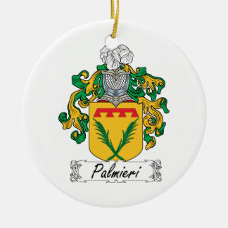 Palmieri Family Crest Double-Sided Ceramic Round Christmas Ornament
