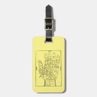 Palmistry, 1671 luggage tag