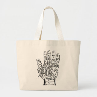Palmistry Hand Map Tote Bag