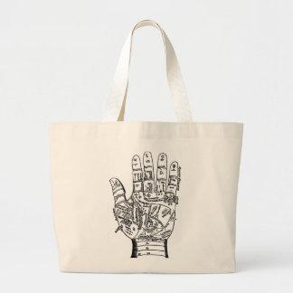 Palmistry Hand Map Jumbo Tote Bag