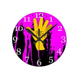 Palmistry Hang Loose Round Clock