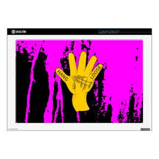 """Palmistry Hang Loose Decal For 17"""" Laptop"""