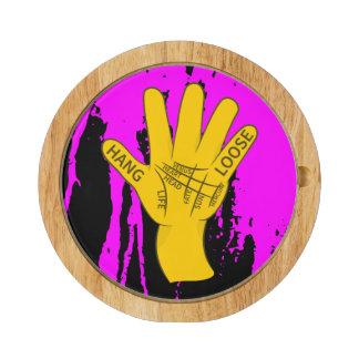 Palmistry Hang Loose Round Cheeseboard