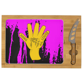 Palmistry Hang Loose Rectangular Cheese Board