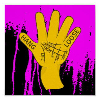 Palmistry Hang Loose Poster