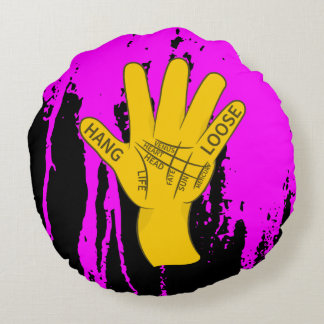 Palmistry Hang Loose Round Pillow