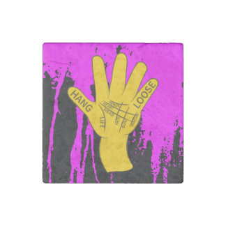 Palmistry Hang Loose Stone Magnet