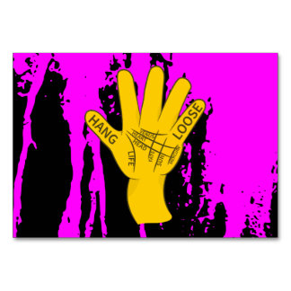 Palmistry Hang Loose Table Card