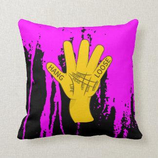 Palmistry Hang Loose Throw Pillow