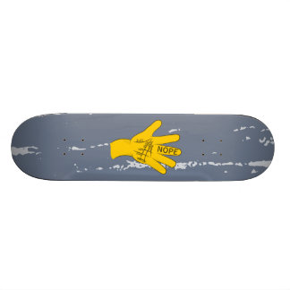 Palmistry Nope Funny Hand Skateboard Deck