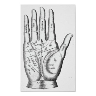 Palmistry Poster and Canvas Print