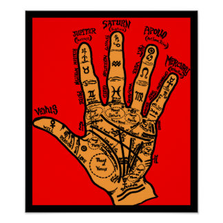 Palmistry Poster - In Color