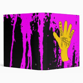 Palmistry Rock and Roll Vinyl Binder