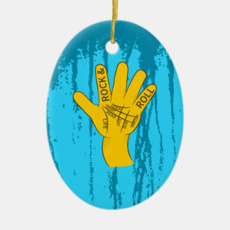 Palmistry Rock and Roll Ceramic Ornament