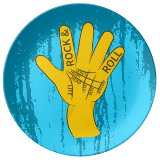 Palmistry Rock and Roll Dinner Plate