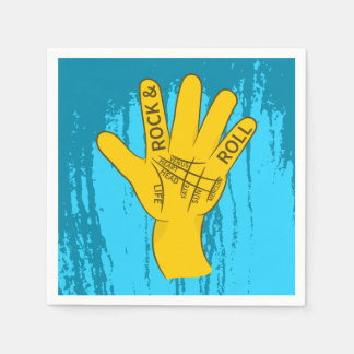 Palmistry Rock and Roll Napkin