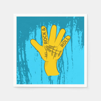 Palmistry Rock and Roll Paper Napkin
