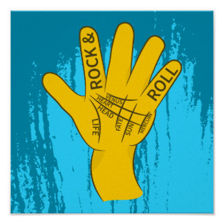 Palmistry Rock and Roll Poster