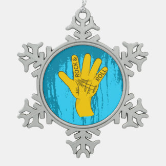 Palmistry Rock and Roll Snowflake Pewter Christmas Ornament
