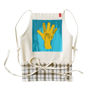 Palmistry Rock and Roll Zazzle HEART Apron