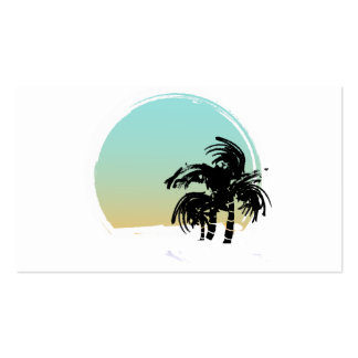 Palms and Beach Business Card