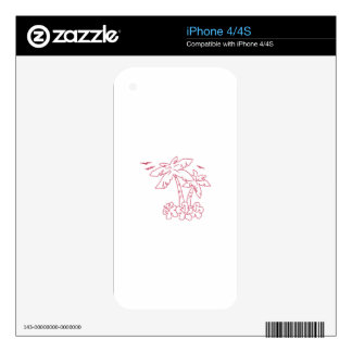PALMS AND HIBISCUS SKINS FOR iPhone 4S