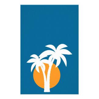 Palms and orange sun flyer