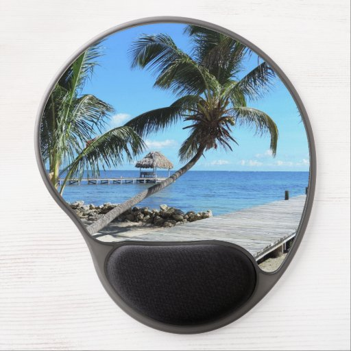 Palms and Pier Gel Mouse Pad