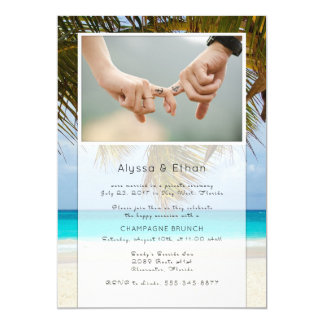 Palms and Sea Photo Marriage Announcement