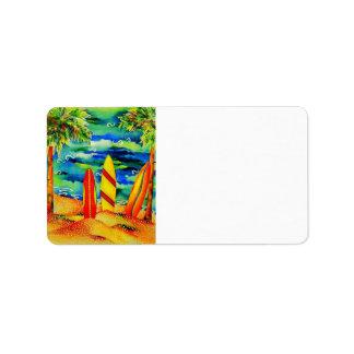 Palms and Surf Address Label