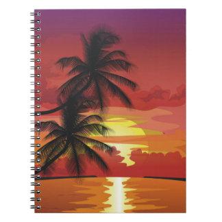Palms at Sunset Notebook