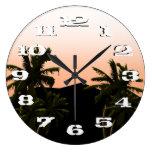 Palms at sunset simplicity clocks