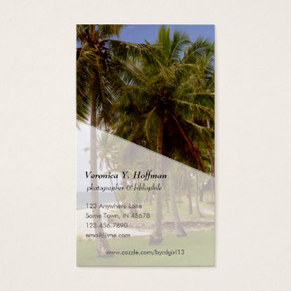 Palms at Tambua Sands (color) Business Card