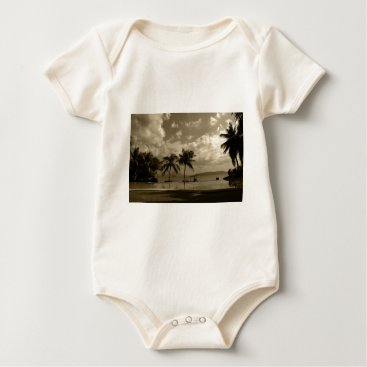 Beach Themed Palms Baby Bodysuit