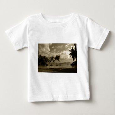 Beach Themed Palms Baby T-Shirt