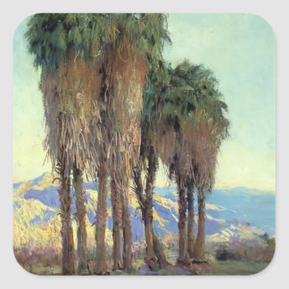 Palms by Guy Rose Square Sticker