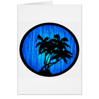 PALMS BY MOONLIGHT GREETING CARD