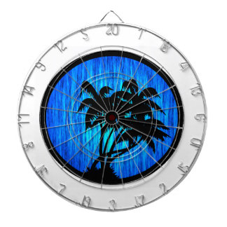 PALMS BY MOONLIGHT DARTBOARD WITH DARTS